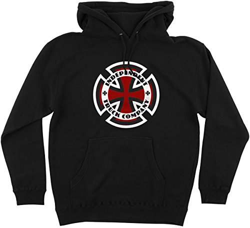 Independent Men's Ringed Cross Hoody Pullover Sweatshirts,Medium,Black (Sweatshirt Cross Hoodie Mens)