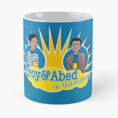 Community Troy And Abed Geek Tv - Best Gift Mugs College Pierce Britta Shirley Chang Jeff Nbc Sitcom Funny Morning Show Best Personalized Gifts