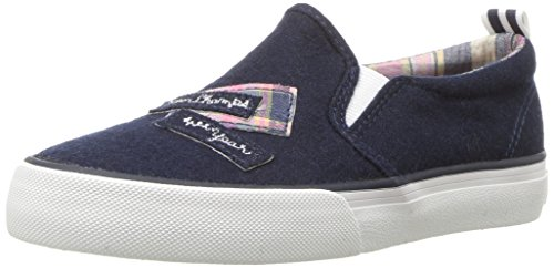 ds Girls' Ceecee Sneaker, Navy Wool, 4 Medium US Big Kid ()