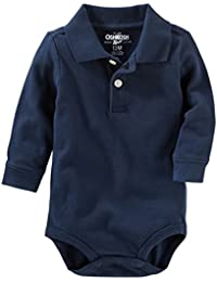 Baby Boys' Long Sleeve Polo Bodysuit
