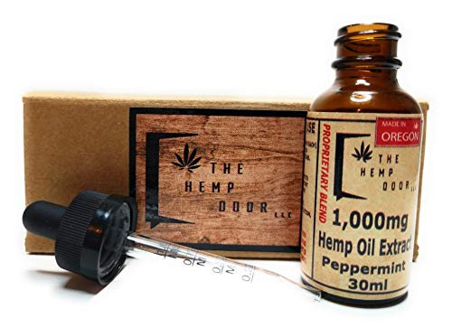 Healthy Sleep Patterns - Hemp Oil 1000mg::Hemp Oil for Pain::Stress Relief, Mood Support, Healthy Sleep Patterns, Skin Care (1000mg,33.33 mg per Serving x 30 Servings): The Hemp Door LLC