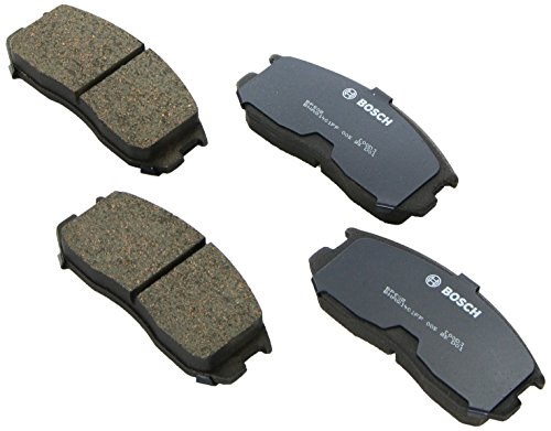 Dodge Colt Brake Disc - Bosch BP602 QuietCast Premium Semi-Metallic Disc Brake Pad Set For Dodge: 1993-1995 Colt; Eagle: 1993-1996 Summit; Mitsubishi: 1993-1999 Mirage; Plymouth: 1992-1994 Colt; Front