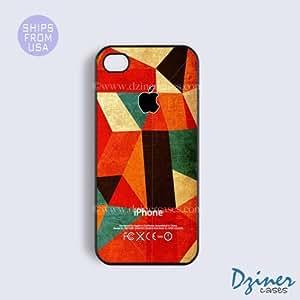 iPhone 4 4s Case - Multi Color Geometric Design iPhone Cover