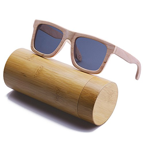 BEWELL Hombre Eyewear de Maple Polarized G004A Sunglasses Madera Gafas Sol UV Wood RfqrfI