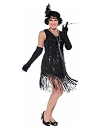 Forum Swinging in Sequence Black Flapper Dress Plus Size