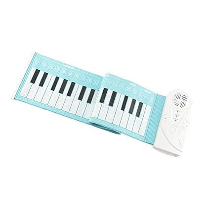 ROLL UP PLEGABLE DEL TECLADO VIRTUAL 49 TECLAS DE PIANO ELECTRóNICO 1613: Amazon.es: Instrumentos musicales