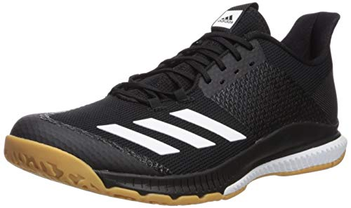 adidas Women's Crazyflight Bounce 3 Volleyball Shoe, Black/White/Gum, 8 M -