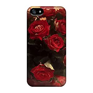 Bling Cases Scratch-free Phone Case For Iphone 5/5s- Retail Packaging - Red Roses For Gayatri