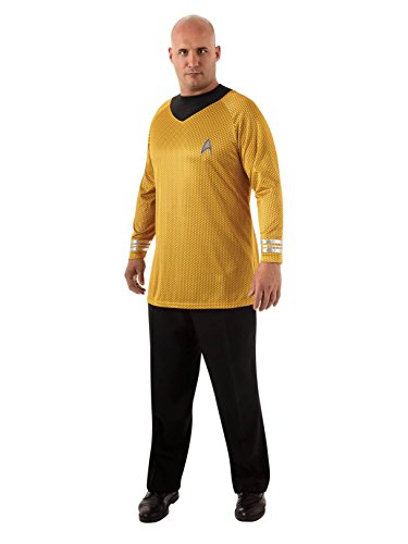 Rubie's Plus-Size Star Trek Into Darkness Deluxe Captain Kirk Shirt With Emblem, Gold/Black, Plus Costume -