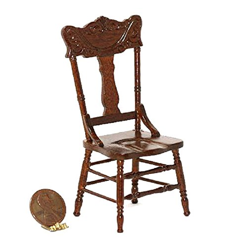Dollhouse Miniature Traditional Dining Room Chair by Bespaq - Bespaq Dining Room
