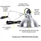 Simple Deluxe 2-Pack Clamp Lamp Light with 8.5 Inch Aluminum Reflector up to 150 Watt E26/E27 Socket (no Bulb Included) 6 Feet 18/2 SPT-2 Cord, Silver