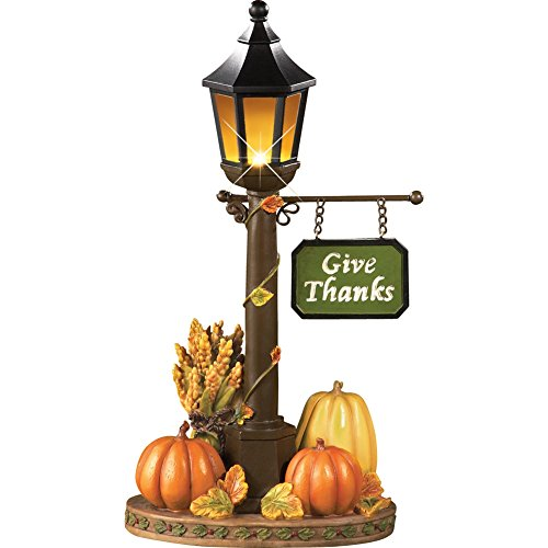 Lighted Thanksgiving Lamp Post Decoration