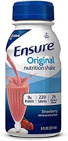 Ensure Original Nutrition Strawberry Meal Replacement Shakes with 9g of Protein 8 fl. oz,
