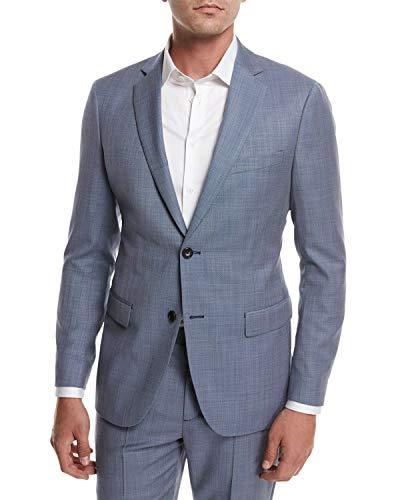 Theory Rodolf N HL Wool Cross-Stitch Suiting Blazer Jacket, Blue 44