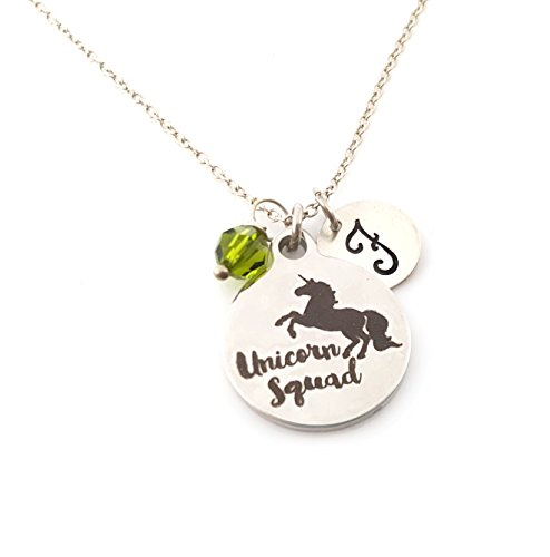 - Unicorn Squad Charm Necklace - Personalized Sterling Silver Jewelry