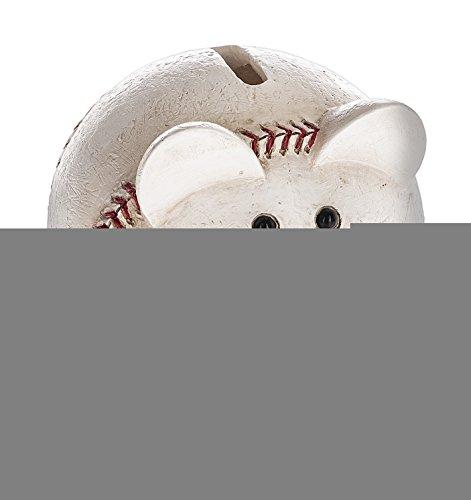 Sports-Themed Piggy Baseball 4 x 3.75 Resin Stone Children's Coin (Cyber Coins)