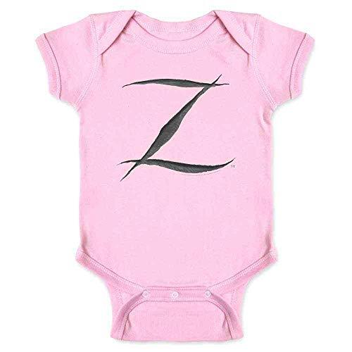 Pop Threads Zorro Big Cut Z Halloween Costume Pink 24M Infant Bodysuit
