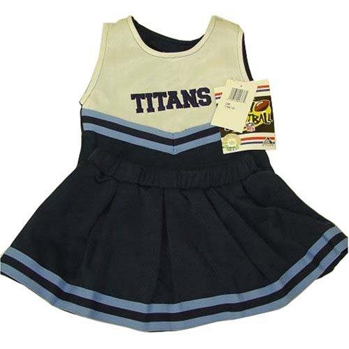 [Tennessee Titans NFL Baby/Infant 2pc White Tank Cheerleader Halloween Costume 24 mos] (Cheerleading Costumes Halloween)