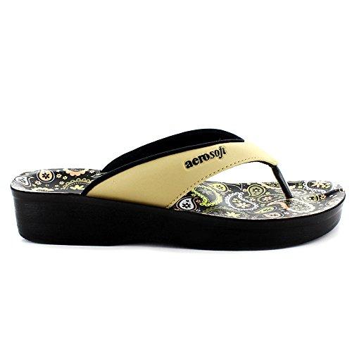 Dojo (a0862) - Original Aerosoft Mujeres Sandals Gold (# Ffd700)