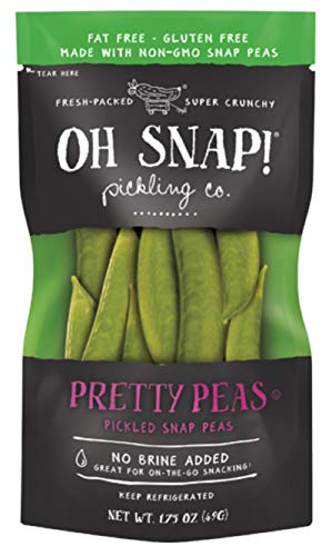 (Oh Snap! Fresh Packed Super Crunchy Pretty Peas Pickled Snap Peas, 1.75 Oz)