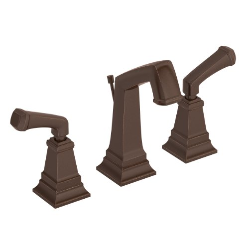 Symmons Oxford Two-Handle 8 - 16 Inch Widespread Bathroom Faucet with Pop-Up Drain & Lift Rod, Oil Rubbed Bronze ()
