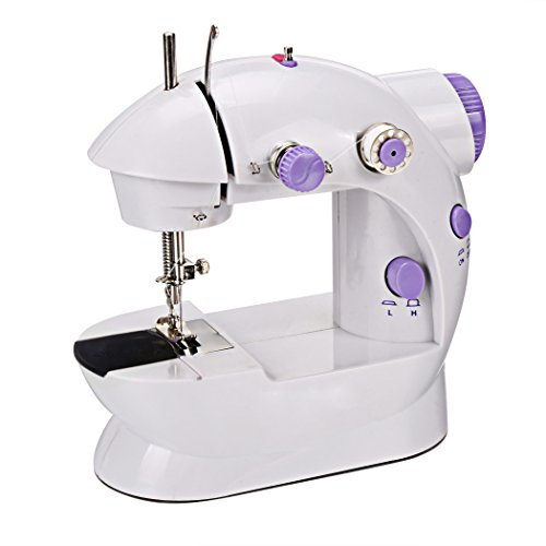 Mini Portable Sew Machine 2-Speed Household Sewing Machine with Light and Cutter + 4 Bobbins - US Stock by Onbio