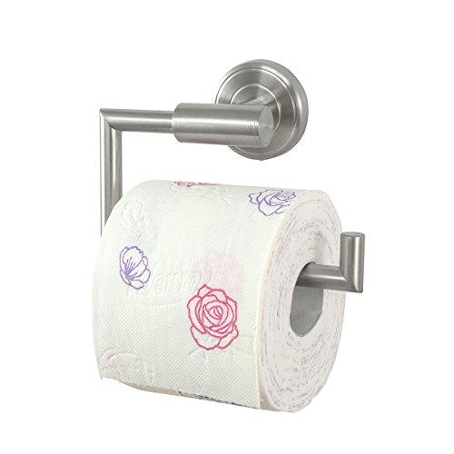 Badserie Ambiente - Toilettenpapierhalter, Rollenhalter aus robustem Edelstahl, matt