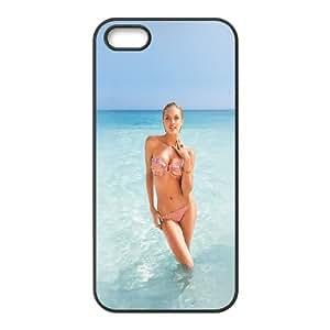 iPhone 5 5S Phone Case Black Hf Bikini Victoria Secret Sexy Model Sea WF4E5XYS Girly Cell Phone Cases
