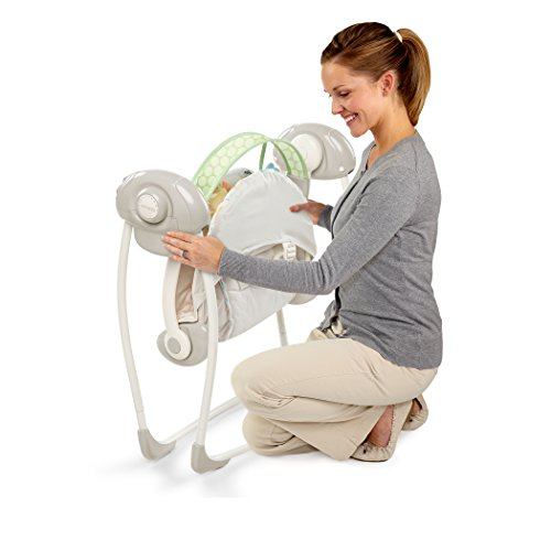 Ingenuity Soothe 'n Delight Portable Swing, Sunny Snuggles