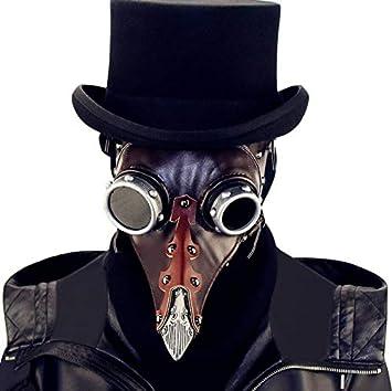 QZH Steampunk Halloween Peste pájaro Boca médico máscara, máscara de Halloween, Juego de Roles, Peste médico