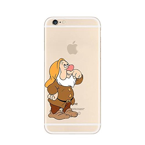 New Disney Seven Dwarfs Clear TPU Soft Case For Apple iPhone 7 SNEEZY