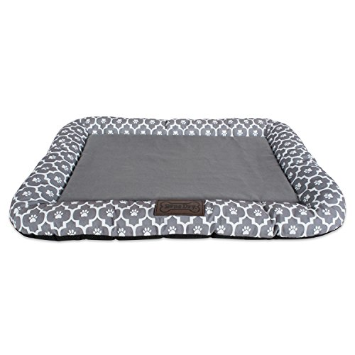 DII Bone Dry Medium Rectangle Lattice Kennel & Crate Padded Pet Mat, 20x28