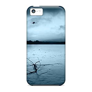 Hot New Winter Ice Covered Lake Cases Covers For Iphone 5c With Perfect Design
