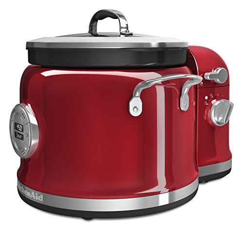 Red Kitchenaid Gourmet Cookware (KitchenAid KMC4244CA Candy Apple Multi-Cooker with Stir Tower, 2-5 quart)