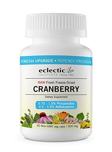 Eclectic Institute Cranberry - Cranberry 300mg Freeze-Dried Eclectic Institute 50 VCaps by Eclectic Institute