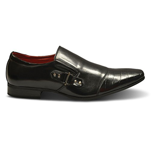 On Slip homme Xelay Black Buckle Mocassins 18XqPX