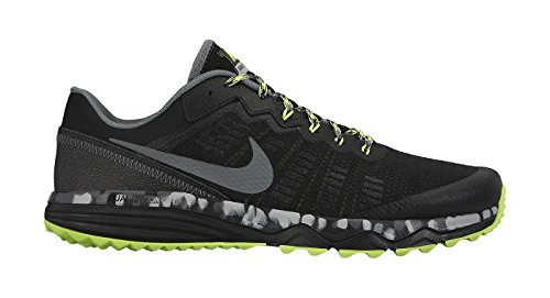 Nike Trail Shoes (Men's Nike Dual Fusion Trail 2 Running Shoe Black/Volt/Wolf Grey Size 12 M)