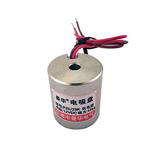 DC12V 25MM 12KG Magnetic Force P25 29K Power Loss Type Electromagnet 12V 24V DC  (color  DC12V)