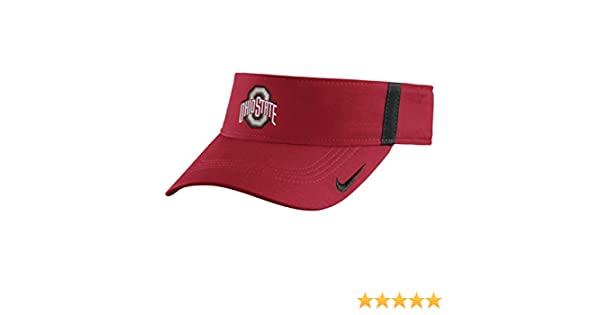 hot sale online 59c9d 09754 Amazon.com   Ohio State Buckeyes Nike Collegiate Aerobill Sideline Team  Visor Adjustable (Red)   Sports   Outdoors