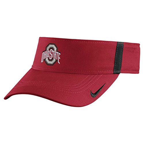 Visor Nike Sideline (Ohio State Buckeyes Nike Collegiate Aerobill Sideline Team Visor Adjustable (Red))