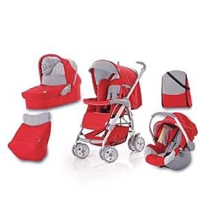 Hauck Condor - Carrito convertible para bebé todo en uno, color rojo