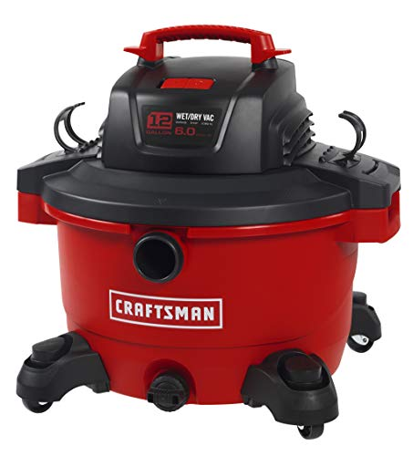Cheap CRAFTSMAN 17594 12 Gallon 6 Peak HP Wet/Dry Vac, Portable Shop Vacuum with Attachments