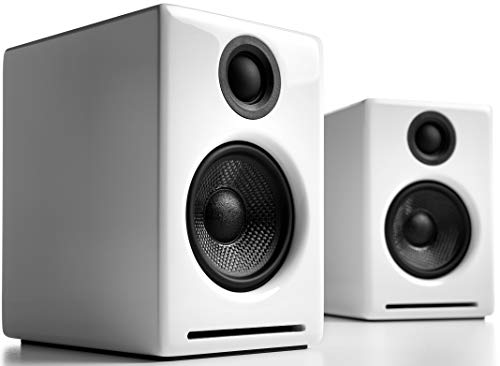 Audioengine A2+ 60W Powered Desktop Speakers, Built in 24Bit DAC & Analog Amplifier (White)
