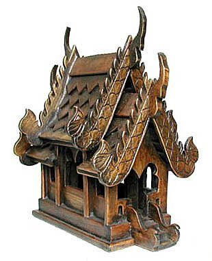 - Thai Buddhist Wood Carving for Spiritual Haunted Spirit House Temple