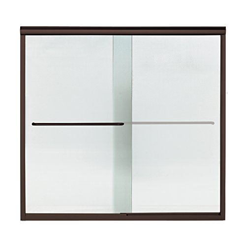 Sterling Plumbing 5305EZ-59DR-G69 Finesse 59.25-In X 58.75-In Frameless Alcove Shower Door With Lake Mist Glass, W H, Deep - Finesse Door Shower G69