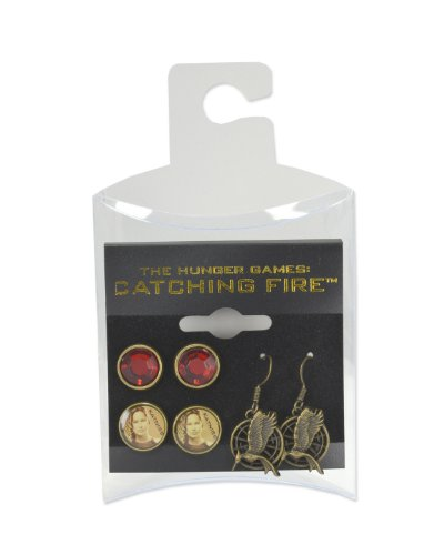 NECA The Hunger Games: Catching Fire Katniss Earrings, Set of 3 (The Hunger Games: Catching Fire Katniss Costume For Women)
