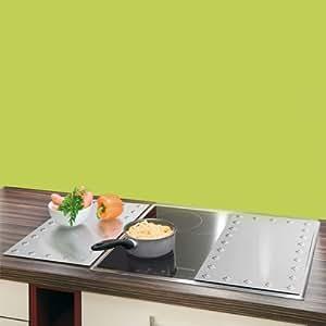 Wenko - Lote de 2 protectores de cocina (acero inoxidable), diseño de rombos