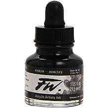 Daler-Rowney F.W. Acrylic Ink 1 oz Bottle - Black (India)