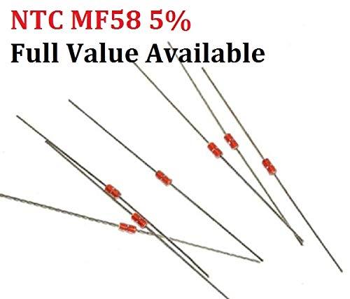 Zizu store - 20pcs NTC MF58 5% 1K 2K 5K 10K 20K 50K 200K 100K 500K 1M Thermal Resistor 3950 B 1/2/3/5/10/K Ohm R Thermistor Sensor