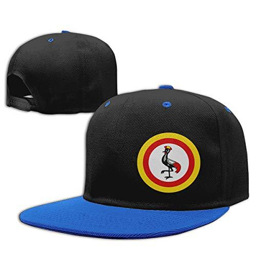 EG93i-05 Unisex Kids Plain Hip Hop Baseball Cap Roundel of Uganda Cotton Sports Hat Blue ()